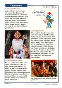 """Die kunterbunte Kinderzeitung """"Nikolaus"""""""